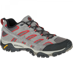 Merrell Men's Moab 2 Ventilator Hiking Shoes, Charcoal Grey, Wide - Size 7.5