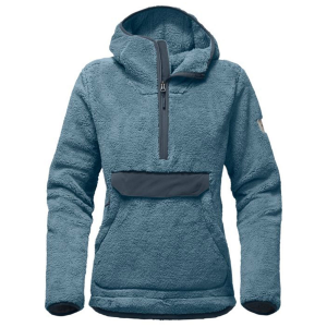 Get a little more comfortable at the mountain cabin with this warm pullover fleece hoodie that\\\'s...
