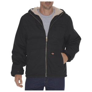 This hooded jacket is built to keep you warm in the colder months. Features adjustable tab cuffs...