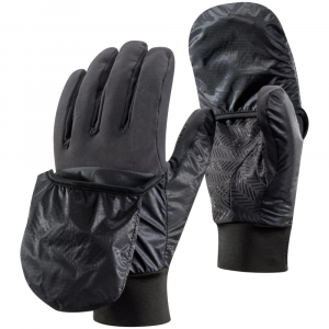 Black Diamond Wind Hood Softshell Gloves, Smoke