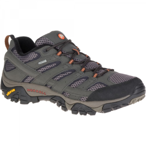 Merrell Men's Moab 2 Gore-Tex Waterproof Hiking Shoes, Beluga, Wide - Size 7.5