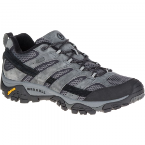 Merrell Men's Moab 2 Waterproof Hiking Shoes, Granite, Wide - Size 7