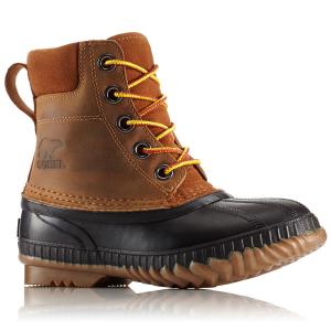 Sorel Boys' Cheyanne Ii Lace Waterproof Duck Boots, Black/elk