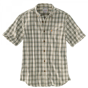 Carhartt Men's Essential Plaid Button Down Short-Sleeve Shirt