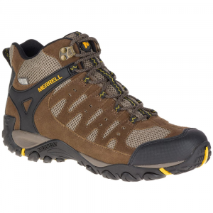 Merrell Men's Accentor Mid Ventilator Waterproof Hiking Boots, Stone/old Gold - Size 9