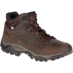 Merrell Men's Moab Adventure Mid Waterproof Hiking Boots, Dark Earth, Wide - Size 7