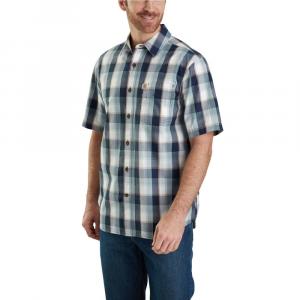 Carhartt Men's Essential Plaid Open Collar Button Down Short-Sleeve Shirt