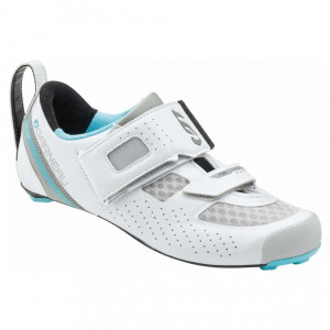 Louis Garneau Women's Tri X-Lite Ii Triathlon Shoes, Whiteblue Fish - Size 36