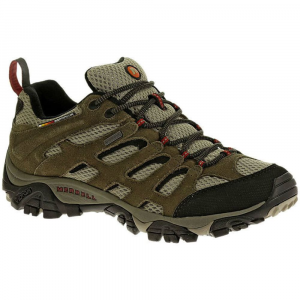 Merrell Men's Moab Wp Hiking Shoes, Bark Brown - Size 7.5