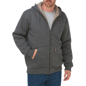 With wooly Sherpa fabric providing warm lining throughout, this classically-styled hoodie will...