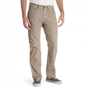 The Levi\\\'s 505 twill pants have a regular fit that sits below the waist.  100% cotton.  Regular...