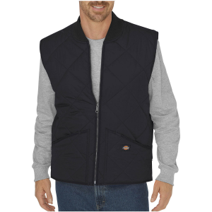 The cotton-blend lining on this water resistant vest wicks away moisture to keep your core...