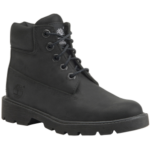 A kid-sized version of Timberland\\\'s classic waterproof boots. .  . . . . . .  Full-grain...