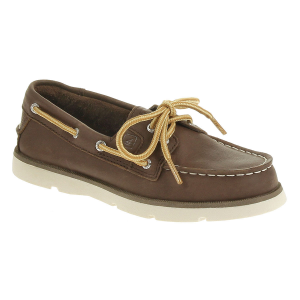 These casual, cool boat shoes will look great on your little one. . . .  Genuine leather upper....