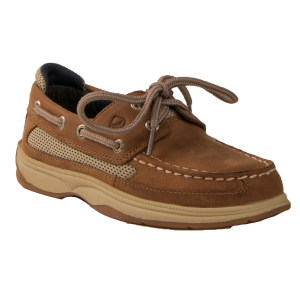 These casual, cool boat shoes will look great on your little one.  Genuine leather upper. ...
