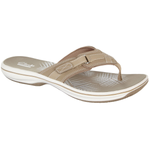 Stability and comfort come together in this women\\\'s Breeze Sea Flip Flops by Clarks. The...