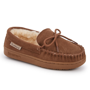 With a sheepskin lining and suede upper, these slippers are ultra-warm and comfortable. They...