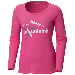 Columbia Women's Tested Tough In Pink Long-Sleeve Tee - Size S