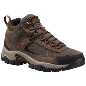Columbia Men's Granite Ridge Mid Waterproof Hiking Boots, Mud Rusty Brown, Wide - Size 8