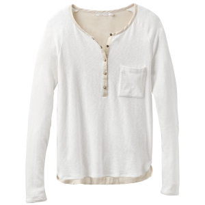 Comfortable, top to bottom. A looser fit with a snap Henley placket, longer back hem, and...