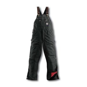 Carhartt Men's Duck Quilt-Lined Zip-To-Thigh Bib Overalls
