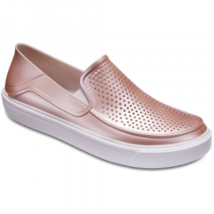 Crocs Women's Citilane Roka Metallic Casual Slip-On Shoes - Size 6