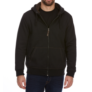 Dunlop Men's Sherpa-Lined Full-Zip Hoodie