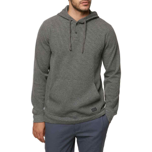 How many ways can you stay warm on a chilly day? This pullover gives you three: waffle thermal...