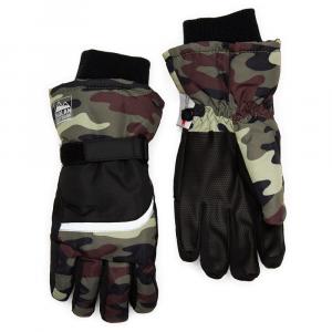 Nolan Boys' Camo Color-Blocked Ski Gloves