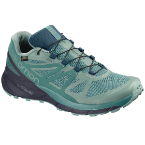 Salomon Women's Sense Ride Gtx Invisible Fit Waterproof Trail Running Shoes - Size 6