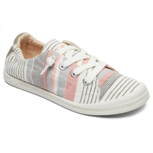 Roxy Girls' Bayshore Iii Multi-Stripe Lace-Up Casual Shoes - Size 2