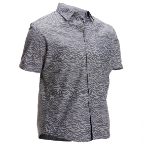 Ocean Current Guys' Waves Woven Short-Sleeve Shirt
