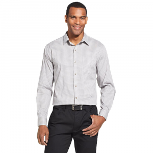 Van Heusen Men's Traveler Performance Stretch No-Iron Long-Sleeve Shirt