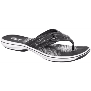Stability and comfort come together in this women\\\'s Breeze Flip Flops by Clarks. The contoured...