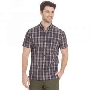 G.h. Bass & Co. Men's Summit Creek Seersucker Medium Plaid Short-Sleeve Shirt
