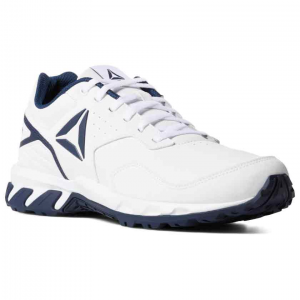 Walk the outdoor trail with comfort and stability. These men\\\'s walking shoes from Reebok feature...