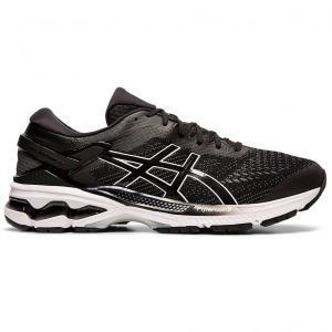 Enjoy luxurious comfort and improved bounce with the men\\\'s GEL-KAYANO 26 running shoe, featuring...