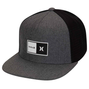 This men\\\'s Hurley hat features a double layer silicone HD transfer Hurley logo, structured flat...