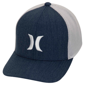 This men\\\'s Hurley Icon Texture Hat features an embroidered logo on the front, a curved bill, and...