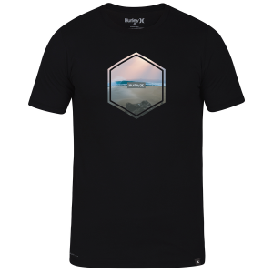 From Hurley, the men\\\'s Dri-FIT Hex Tee features sweat-wicking fabric to help keep you dry and...
