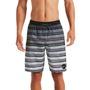 The Nike Stripe Breaker Swim Trunks feature built-in mesh briefs for enhanced comfort and...