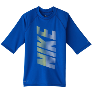 Keep him protected at the beach or by the pool with the Nike Little Boys\\\' Short-Sleeve...