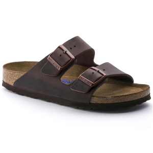 The Birkenstock Women\\\'s Arizona Soft Footbell Sandal is a genuine classic. With soft leather...