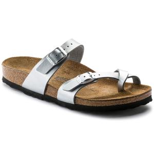 The Birkenstock Women\\\'s Mayari Toe Strap Sandal is an elegantly comfortable sandal with...
