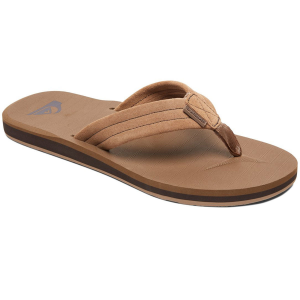 This durable boys\\\' flip flop is crafted with suede leather and a nonslip footbed for ultimate...