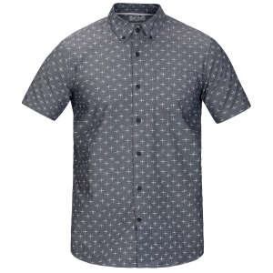 Made of soft cotton construction, this short-sleeve men\\\'s button-down will keep you comfortable...