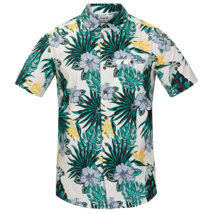 This casual men\\\'s button-down has a bright, colorful print and is great for casual weekend wear....