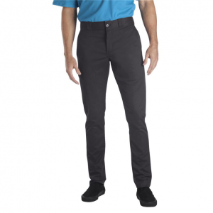 Dickies(R) skinny work pants have a small addition of spandex for a tight fit that allows for...