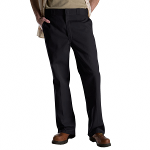 Dickies\\\' classic work pants. .  65% polyester, 35% cotton. .  Fabric blend is naturally...