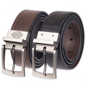 This men\\\'s faux leather belt has a unique reversible design. Mix things up and choose whichever...